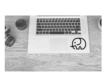 Elephant Decal || Elephant Sticker || Elephant Laptop Decal Sticker || Minimalist Elephant || Simple Elephant Decal | Laptop Car MacBook Mug