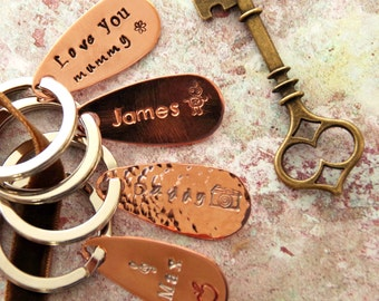 7th anniversary Copper Key Ring  copper anniversary  handmade  Personalised   new home  gift for husband  wedding  gift for wife