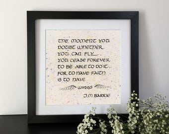Custom Quote Print, Custom Calligraphy, Framed Quotes, Custom Poem Print, Anniversary Gift, Quote Prints, Custom Print, Custom Quote Frame