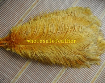 100 pcs gold ostrich feather plume for wedding centerpieces wedding decor