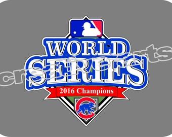 Chicago Cubs 2016 WORLD SERIES Champions Decal car tattoo sticker vinyl
