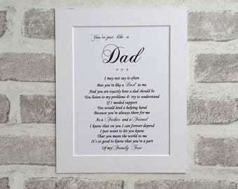 Stepdad Birthday, Step Dad gift,  Like a Dad, Step Father, Personalized Dad gift, Gift for Step Dad Birthday