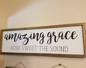Amazing Grace Wall Sign