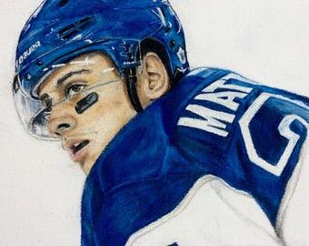 Auston Matthews #34 Toronto Maple Leafs.