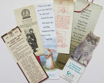 Six Vintage  Charity  book marks (Various Charities).
