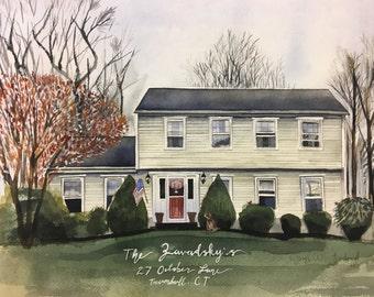 Custom House Painting - Great housewarming gift!