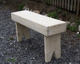 Wooden bench flower Bank garden benches seat planks Bank fireplace bench bench bench cottage vintage untreated to the even paint 89 x 43 x 24 cm