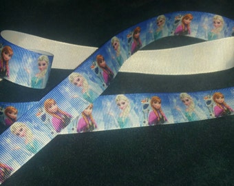 FROZEN Auna, Elsa & Olaf 7/8 inch Grosgrain Ribbon by the Yard