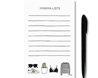 Minimalist Notepad / To Do List Notepad / Desk Stationery / Memo Pad / Funny To Do List / Minimalist Gift / Gift for Her / Cactus Print