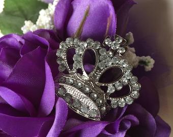 100th Birthday Silk Corsage, Purple Corsage