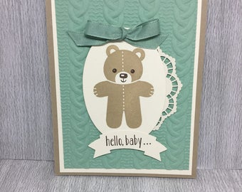 Hello Baby, Stampin Up, Handmade, Greeting Cards
