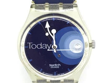 Vintage 1999 Swatch Watch Guideline To The Moon - GK414 Orologio Reloj Armbanduhr