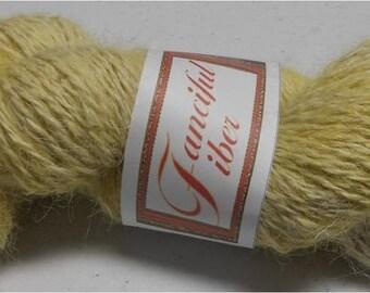 Handspun 100%  Llama Yarn 2 Ply  (Yellow Chiffon) 5.3 Oz 206 Yd Sportweight