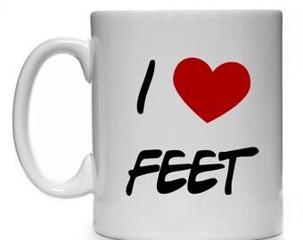 New 11 oz I LOVE FEET Gift Mug Cup Present