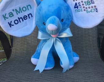 Birth Announcement Plush Elephant