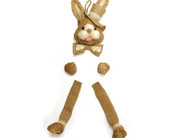 Natural Sisal Bunny Wreath Kit/Wreath Supplies/Easter Decor/Bunny Wreath/9729655