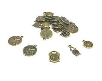 25 charms Bronze clocks clocks 5 models