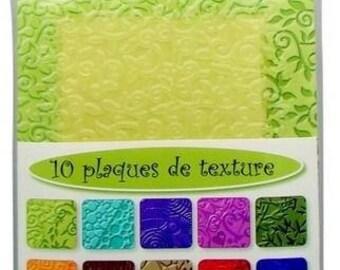 10 Lot 1 for fimo, sculpey, cernit dough Texture plates