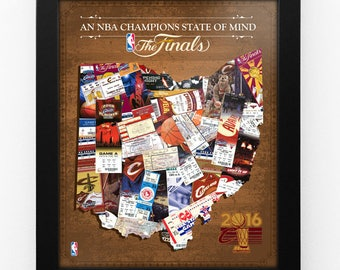 Cleveland Cavaliers 2016 NBA Champions State of Mind Framed Print - Ohio - Personalizable