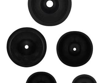 """2""""- 4"""" 50-100 mm C Rubber Sprue Base Set for Jewelry Making Lost Wax Casting Flask Ring Tree Lot"""