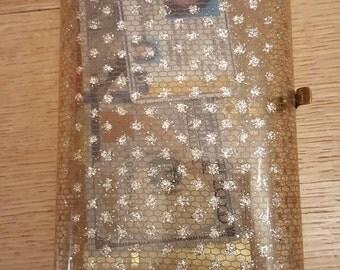 Wilardy stardust confetti original Lucite purse