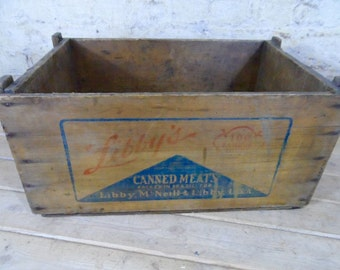 Libby's canned meat crate