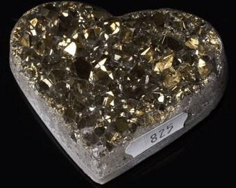 Titanium Aura Quartz Crystal Heart 4.6 oz. A-825