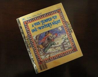 A Fox Jumped Up One Winter's Night – Vintage Children's Little Golden Book – 300-53