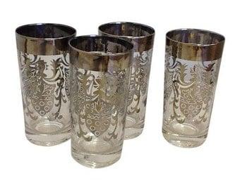 Vintage Kimiko Highball Glasses - Set of 4