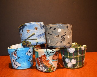 Fabric Coffee Cozy - Air Force - Golf - Jeep - Cupcakes