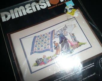 Vintage Dimensions Cross Stitch Amish Breezy Day Kit