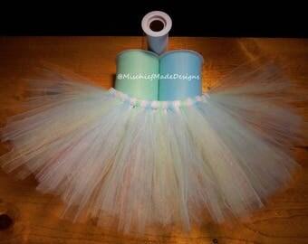 Ice Queen Custom Tutu - mint, light blue & white sparkle tulle pet tutu, dog tutu, princess tutu, dress up your dog, cute pet accessories