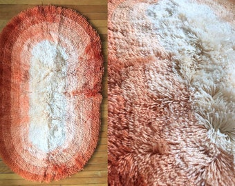 Orange Shag Area Rugs shag area rugs | etsy
