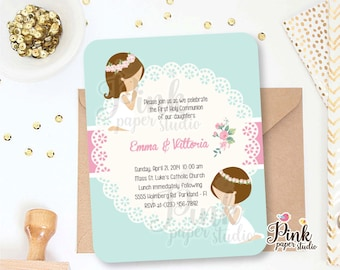 First Holy Communion Invitations • Invitation comes with it's Cardstock Envelope