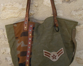 """SMALL tote CAMOUFLAGE """"camel"""""""