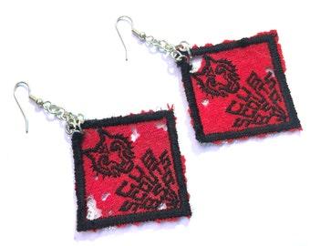 Handmade Vintage Cub Scouts Patch Earrings