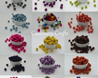 Multicolored Felt Wool Balls handmade beads pom pom DIY ART CRAFTS felt balls