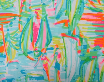 "33"" x 57"" Lilly Pulitzer Cotton Poplin 2017 Fabric"