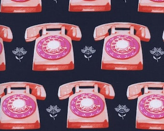 1 Yard Trinket by Melody Miller for Cotton and Steel-0042-2 Telephones