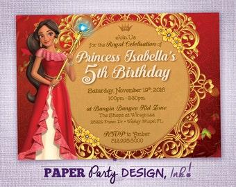 Elena of Avalor Birthday Party Invitation, Elena of Avalor Party,  Elena of Avalor Digital Invitation, Elena of Avalor Printable Invite