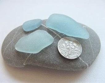 Blue sea glass! Light blue seaglass. Teal sea glass. Blue beach glass. Beach crafts. English sea glass. Ideal for pendants. Beach decor.