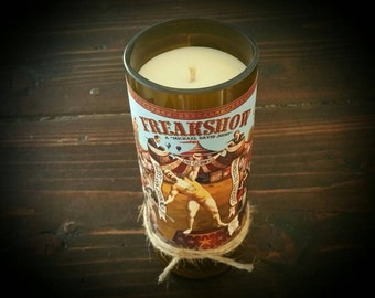 Freakshow wine candle