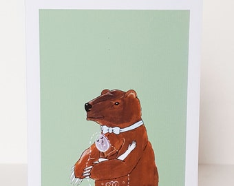 "Greeting Card - ""Bear Hug"""