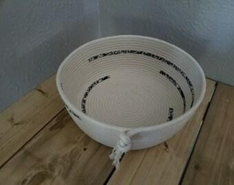 Natural Coiled Rope Basket Bowl