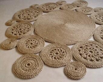 Runder teppich beige  Beige runder teppich | Etsy