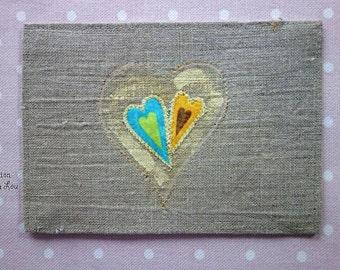 pretty heart card
