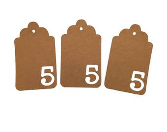 Number Five Gift Tags