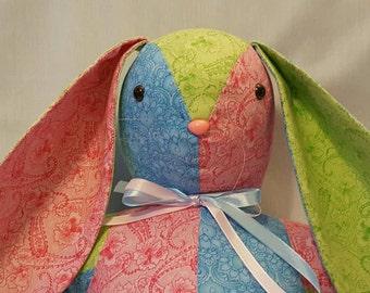 Patchwork Bunny Rabbit stuffed animal/ softie/ plush