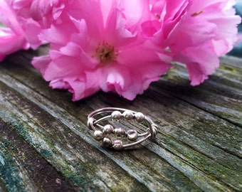 Sterling Silver Spinner Ring, Worry Ring, Anxiety Ring, Stress Ring, Meditation Ring *Sterling Silver*