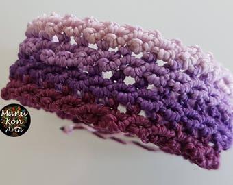 Macrame knot bracelet honeycomb 4 colors / Macrame Bracelet Boho Style